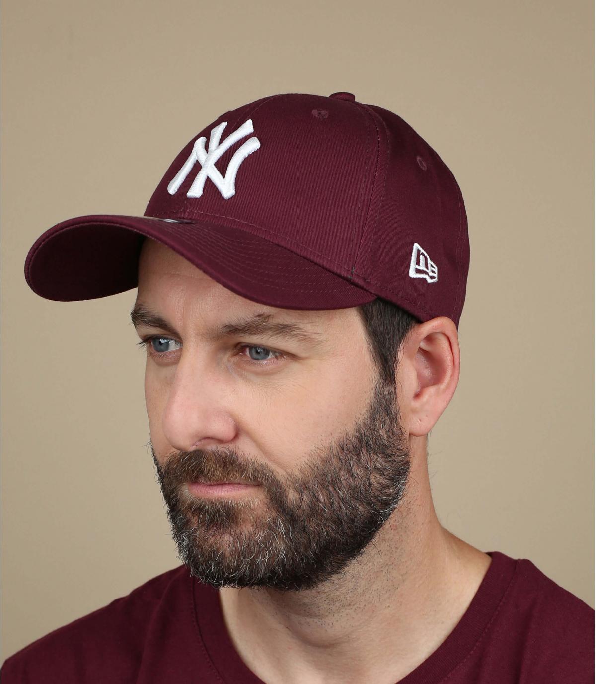 NY berretto marrone camionista