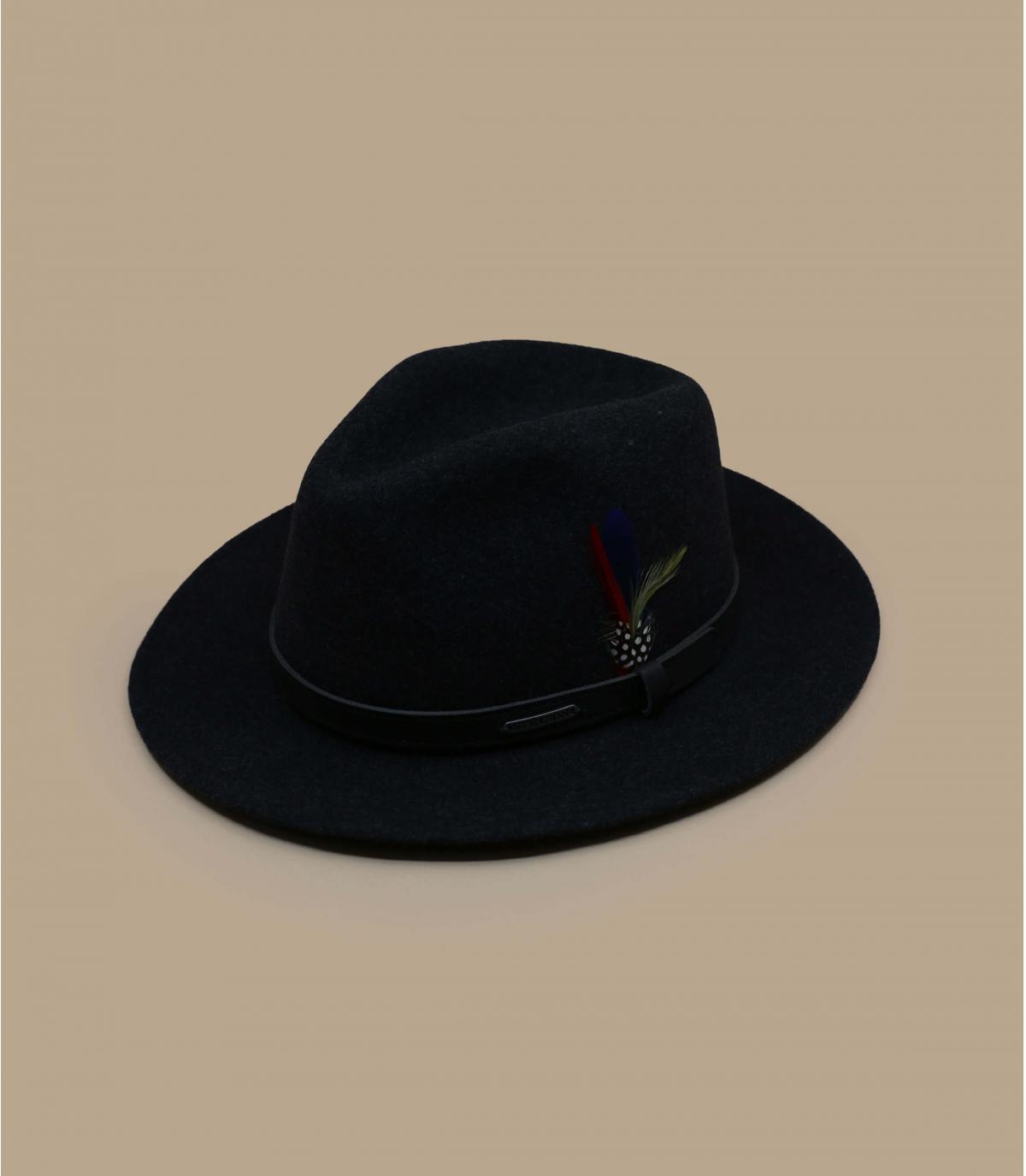 lana cappello di feltro nero