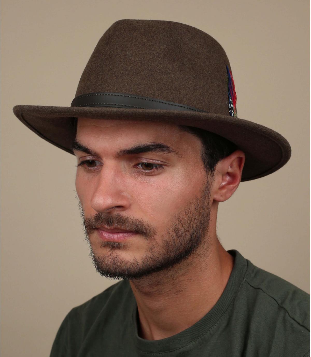 lana cappello di feltro marrone