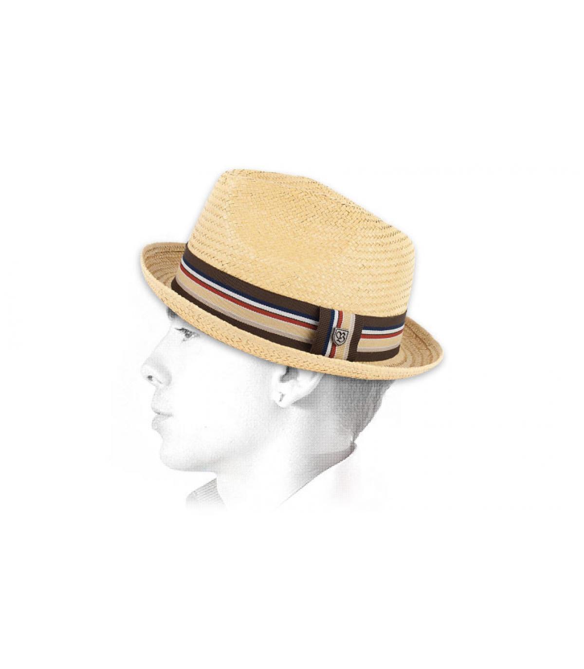 Brixton. Cappello di paglia uomo. Dettagli Castor Tan - image 4 ... ad94a1a53673