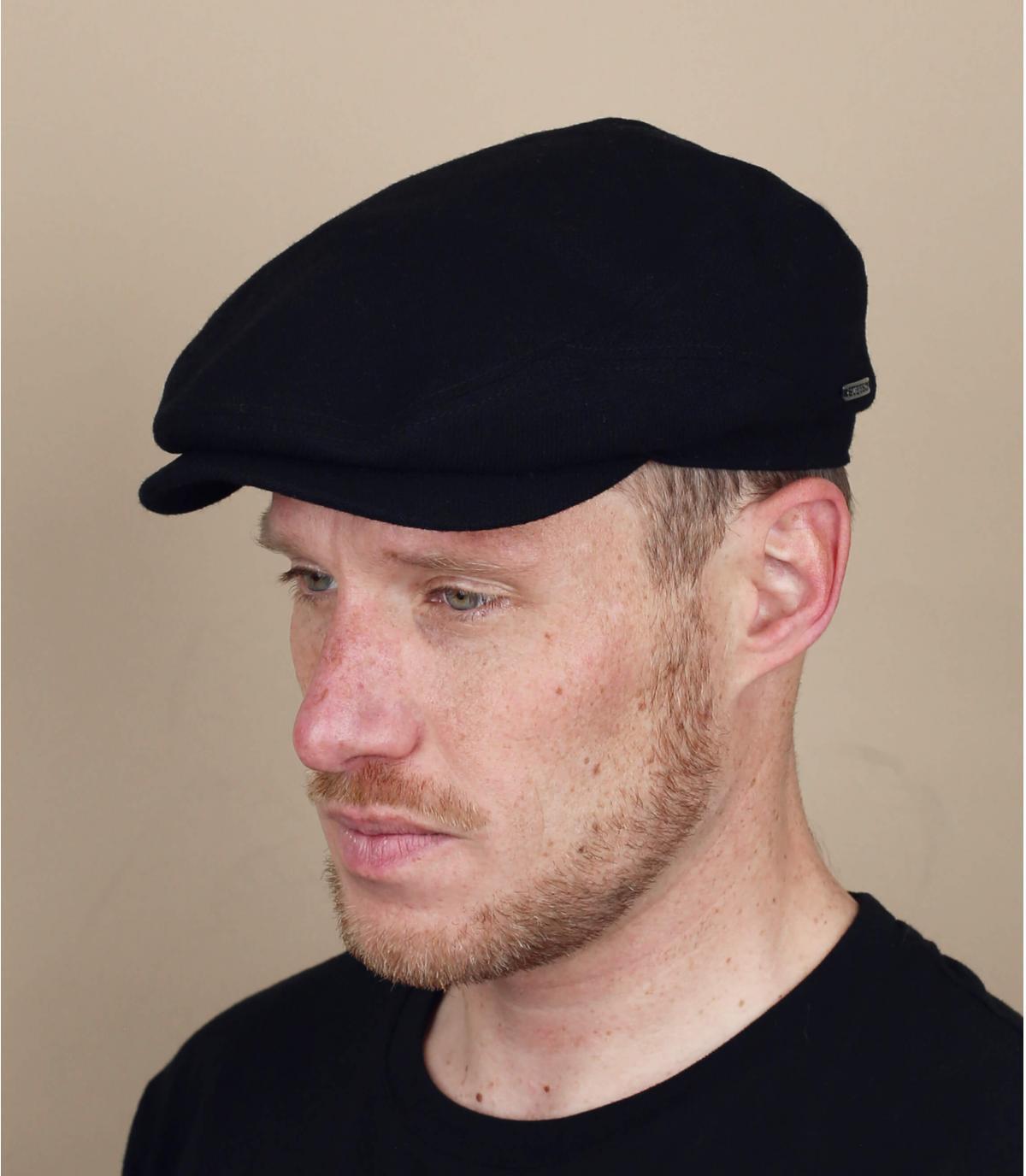 Nero cashmere berretto di lana nuovi ragazzi