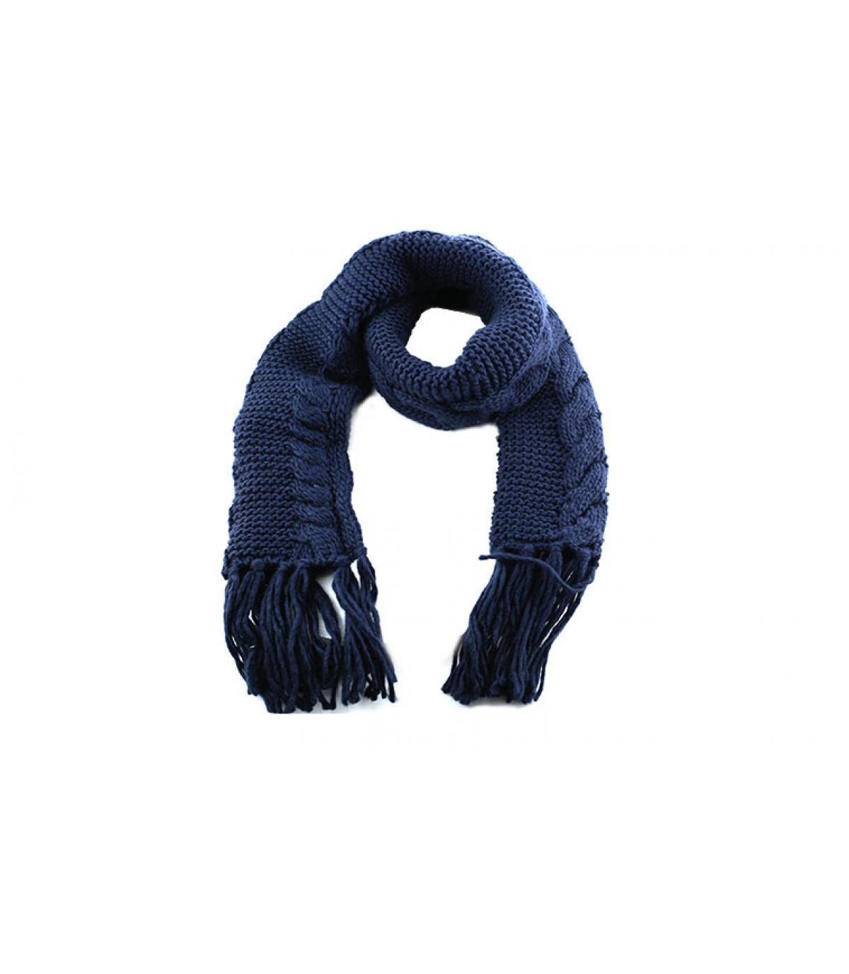 Navy sciarpa con frange