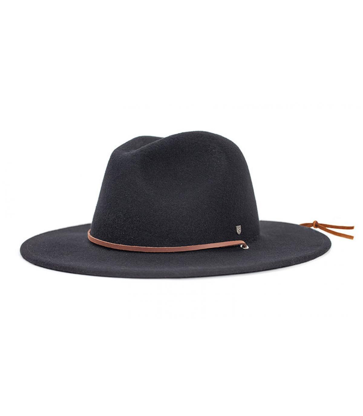 cappello nero Fedora