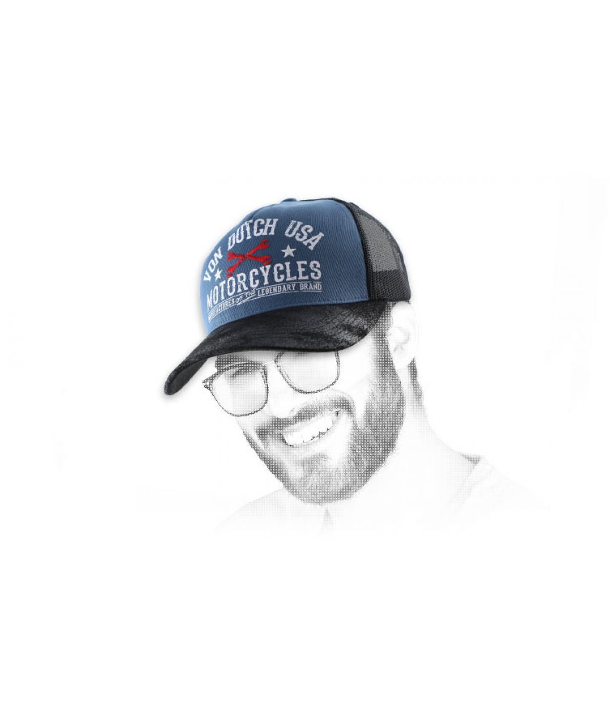 Von cappello camionista olandese blu.