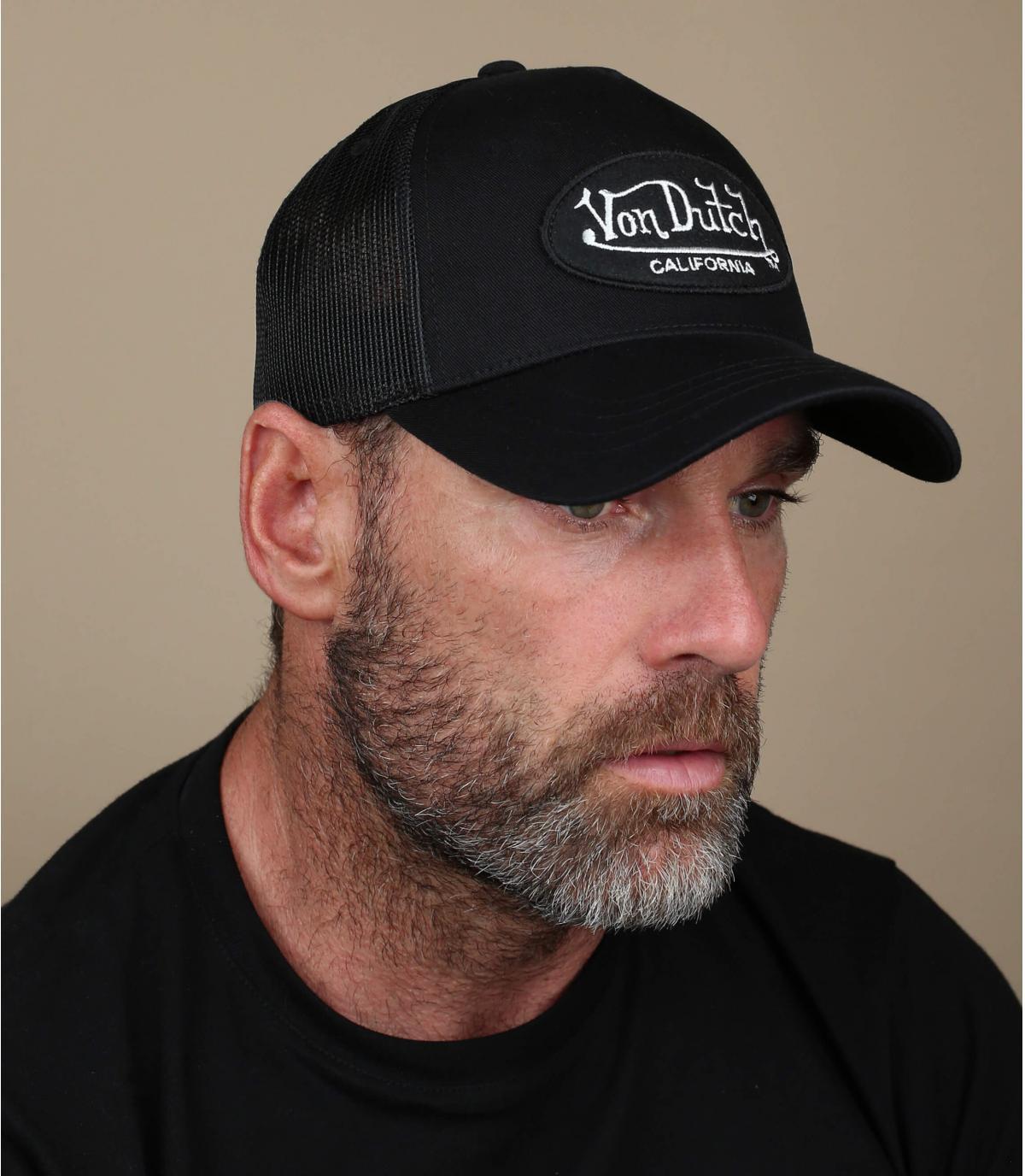 Von cappello camionista olandese nero.