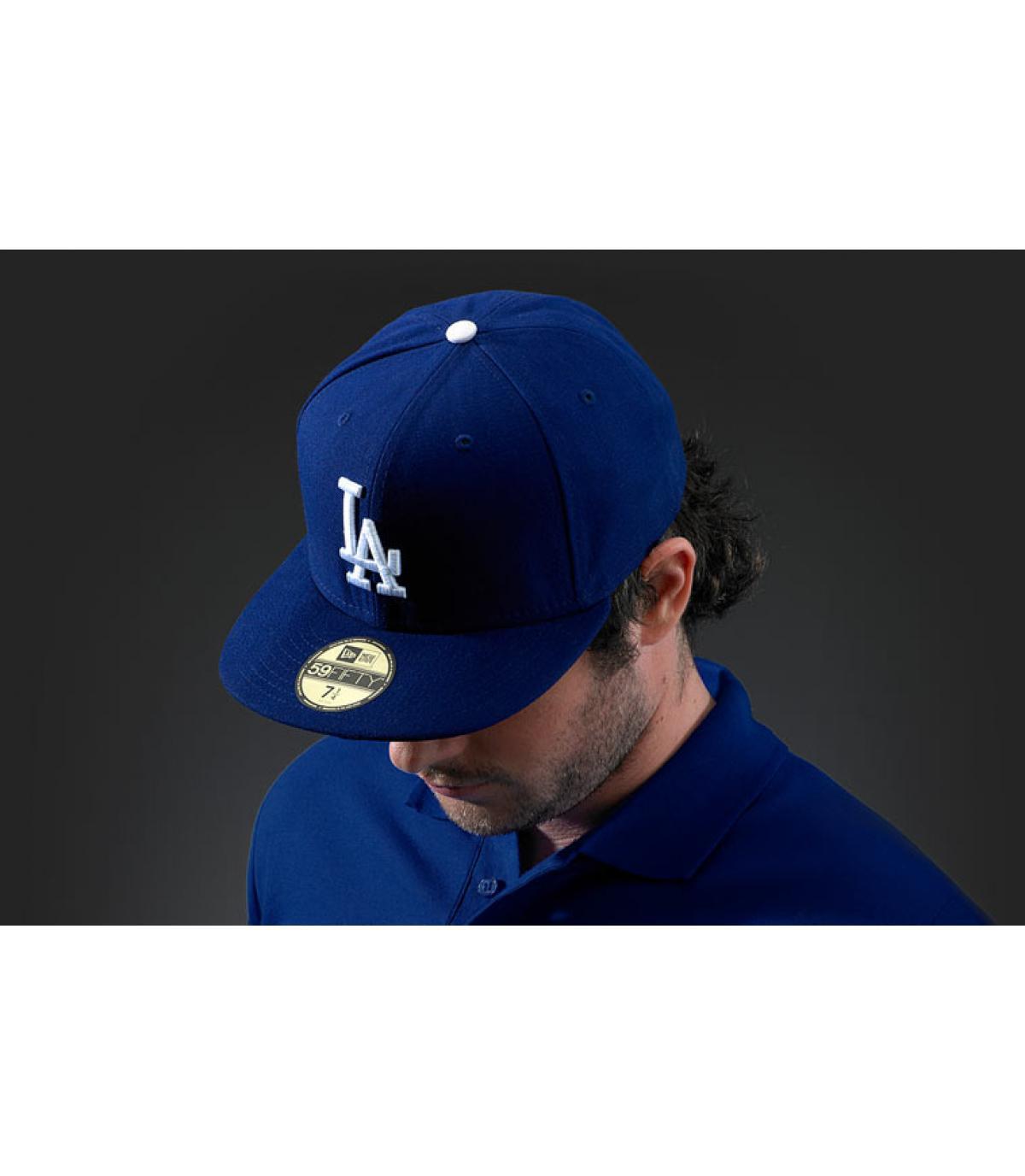 LA blue cap