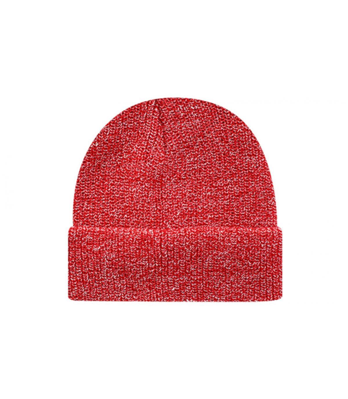 Beanie blank heather red