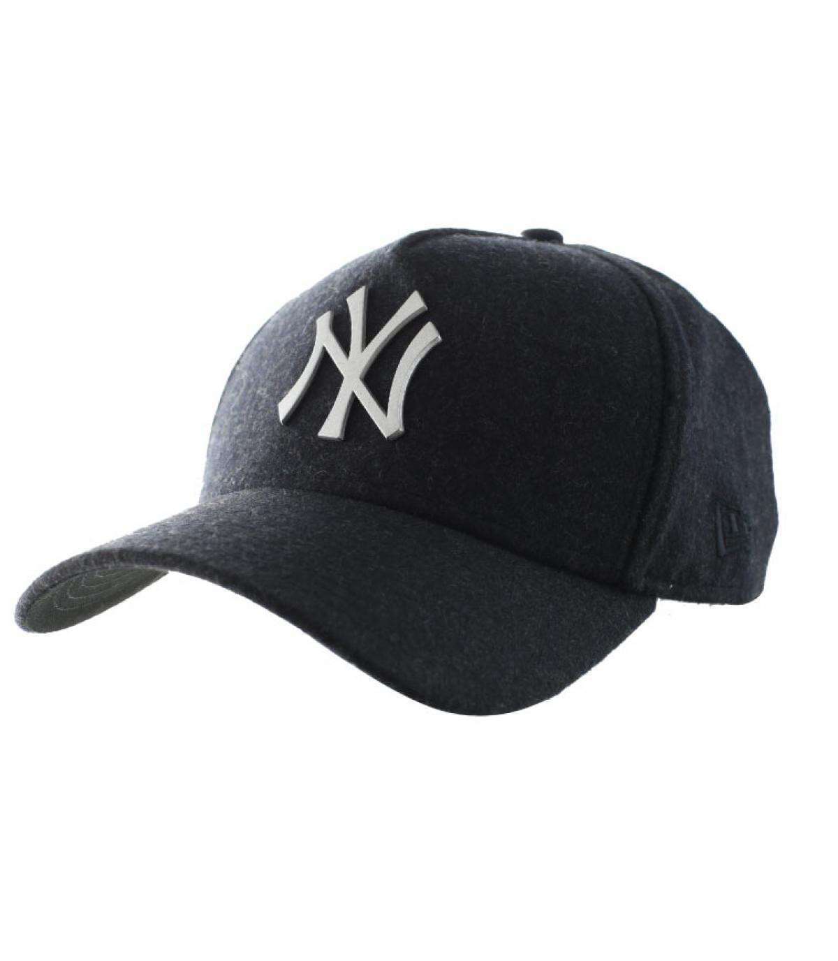 Nero logo in metallo cappello NY - Trucker NY Melton Metal black da ... 5db2edd09890