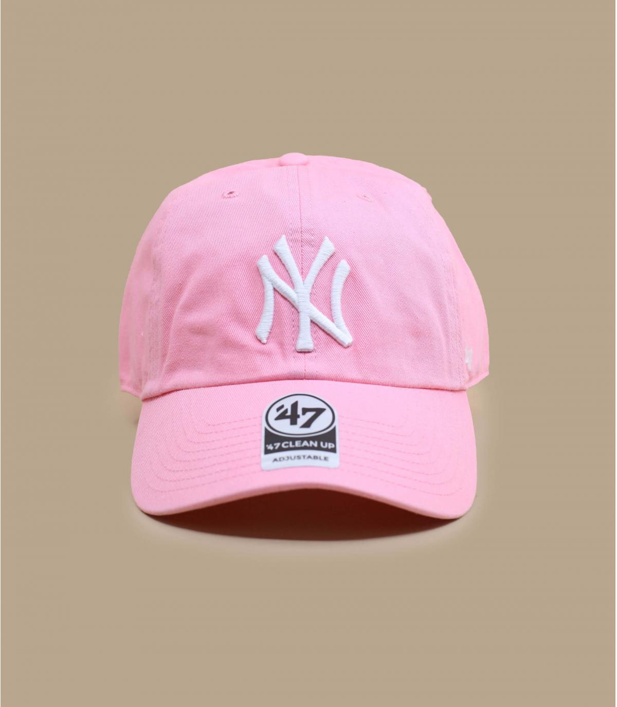 NY berretto rosa chiaro