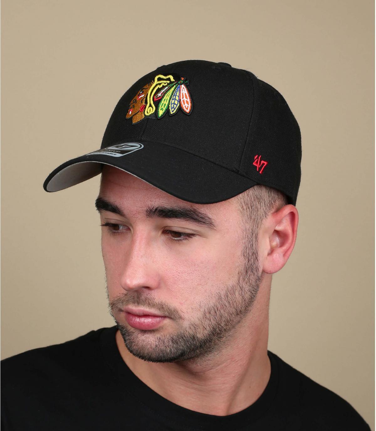 Cap Black Blackhawks