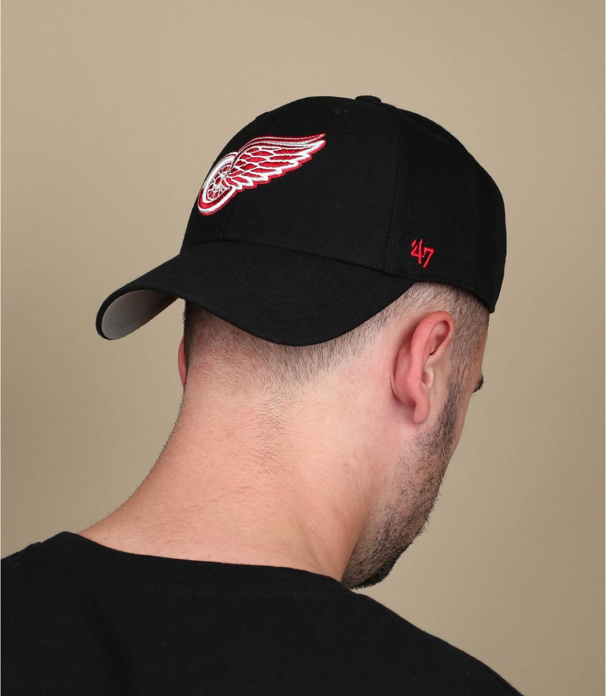 berretto nero Detroit