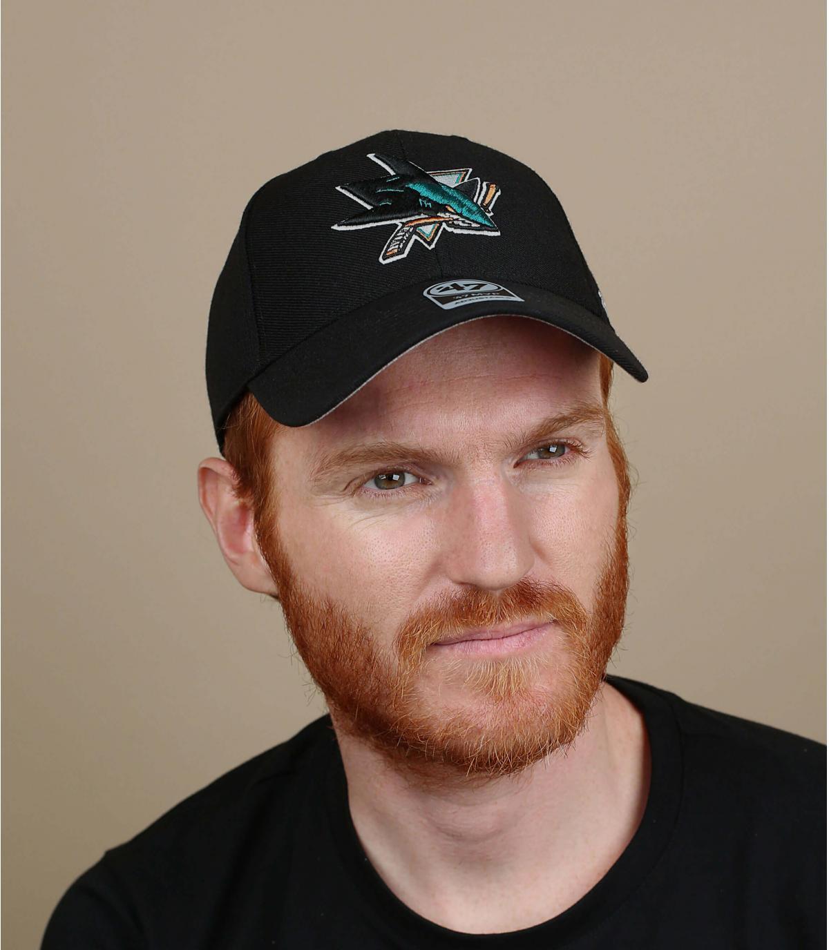 San Jose Sharks cappuccio nero