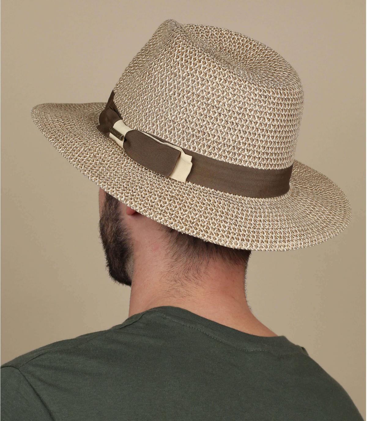 cappello di paglia strisce bordo largo