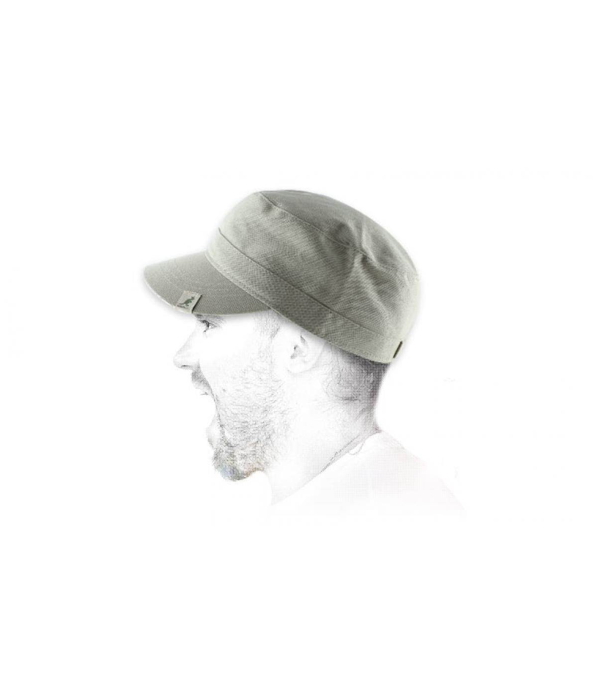 Kangol berretto militare beige