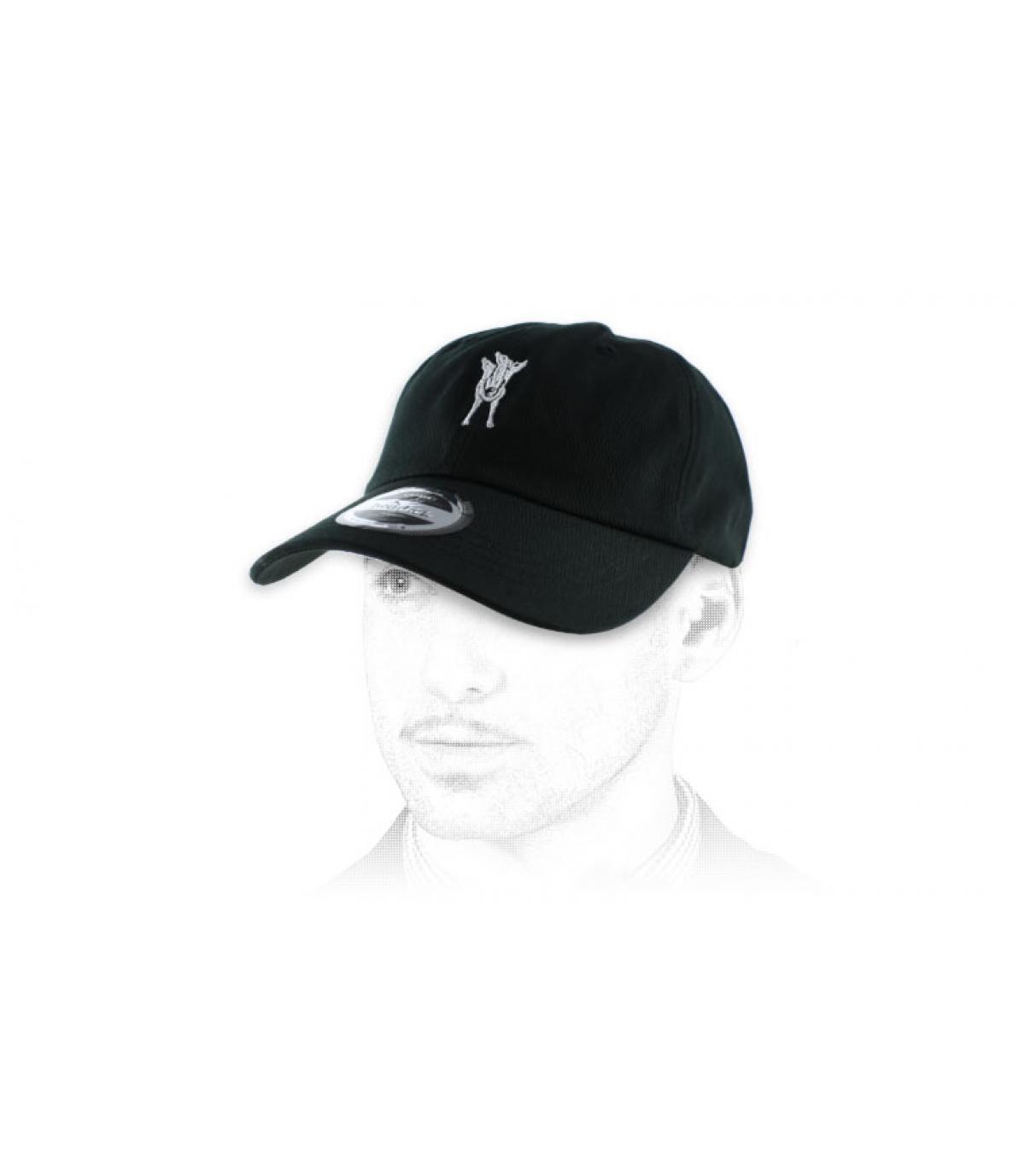 Cerberus berretto nero curva