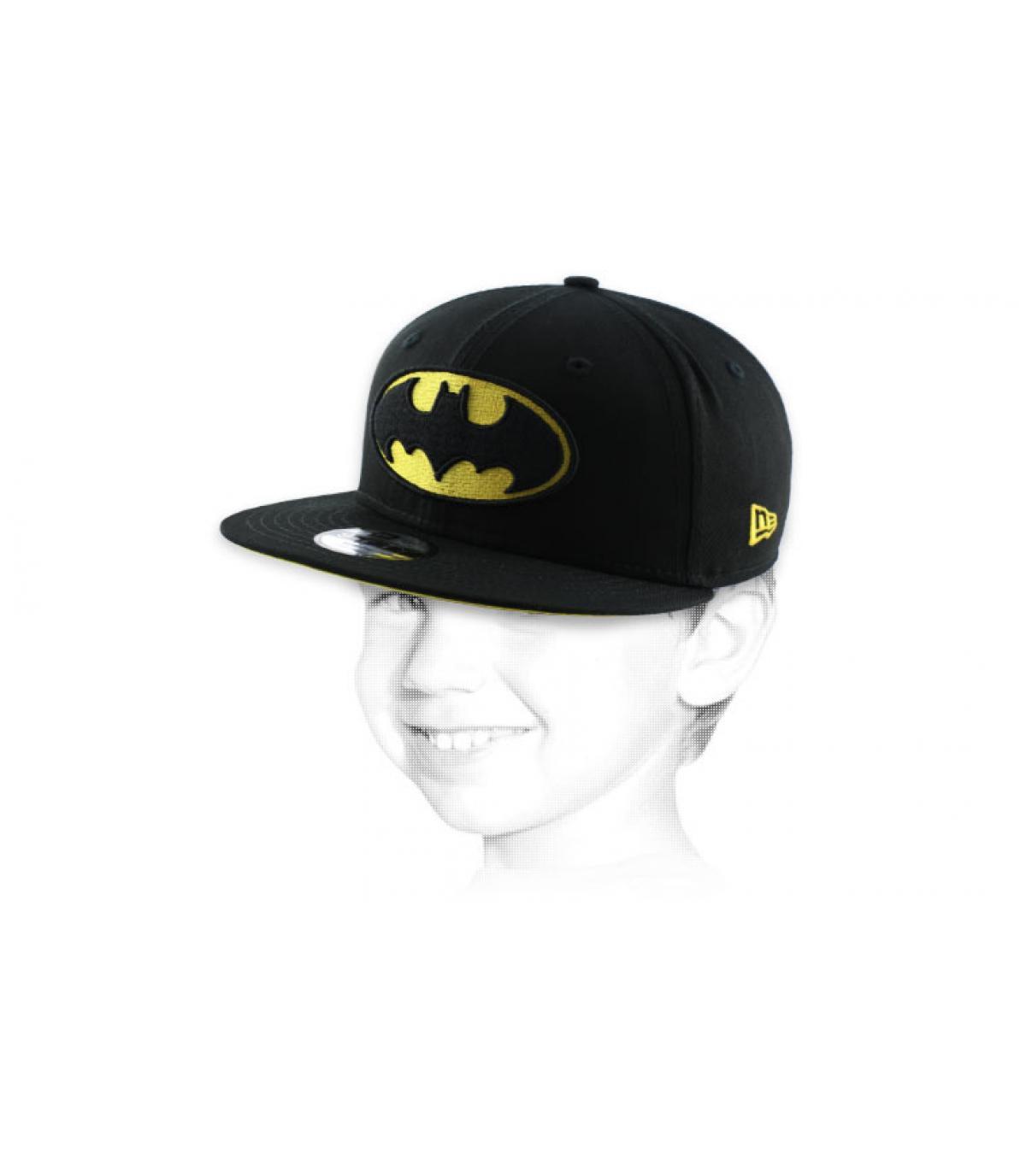 Batman bambino nero berretto