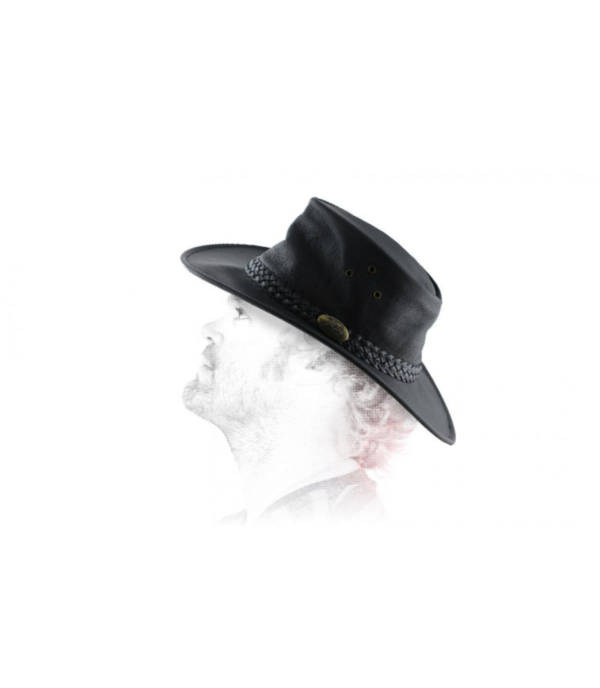 cappello di pelle ingrassata australiano