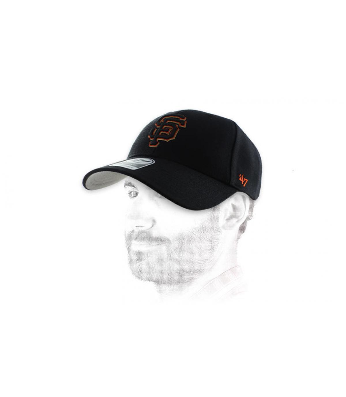 arancio berretto nero SF