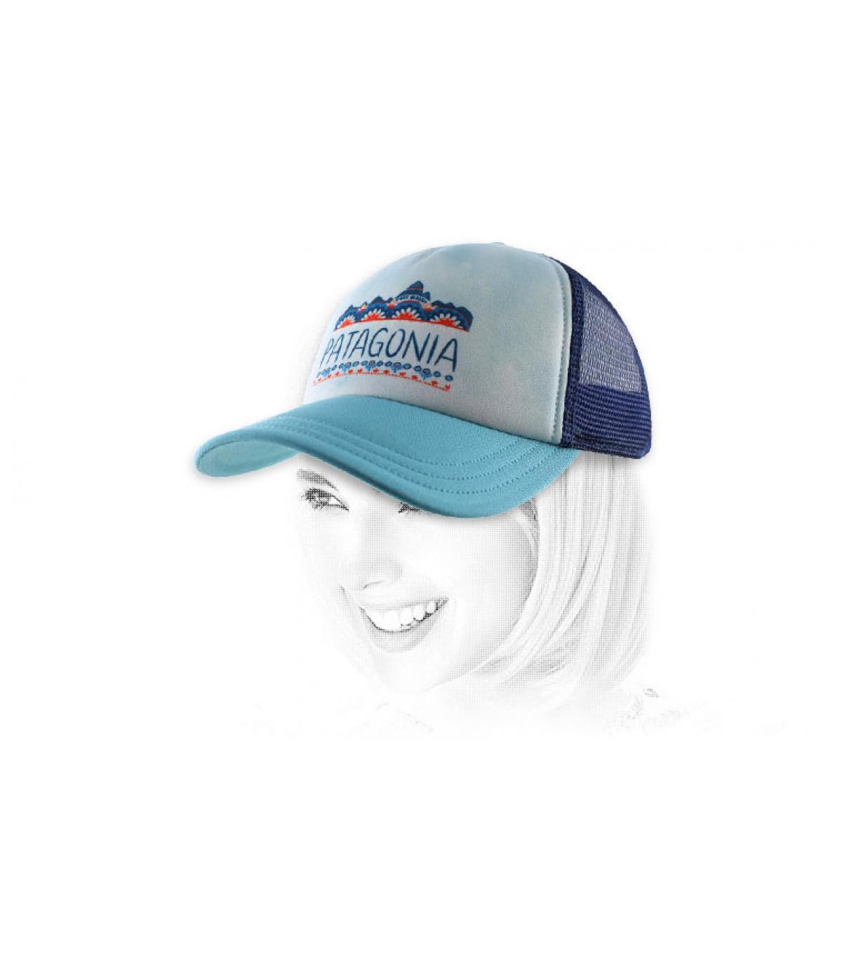 Patagonia cap donna blu