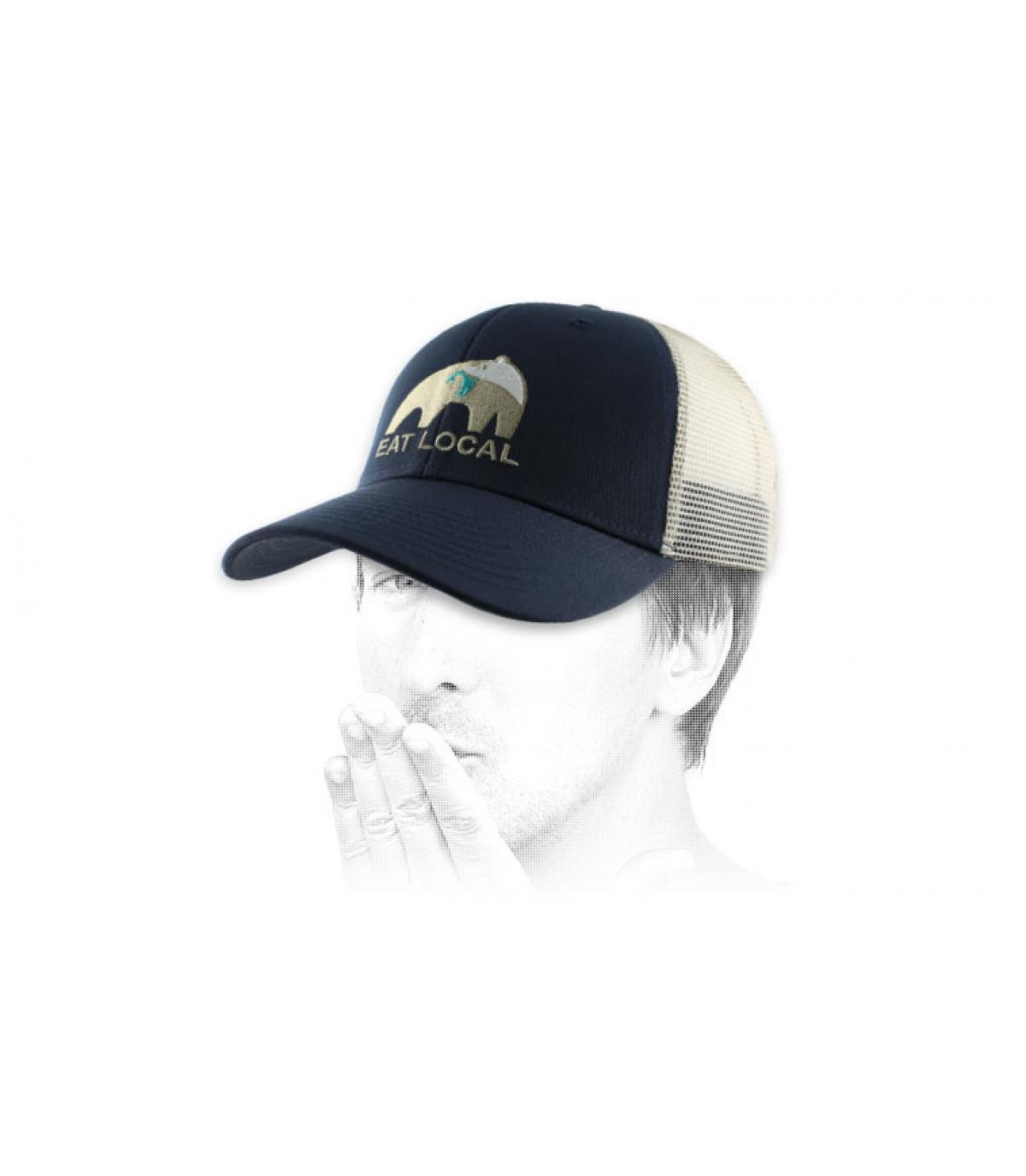 trucker Patagonia orso blu