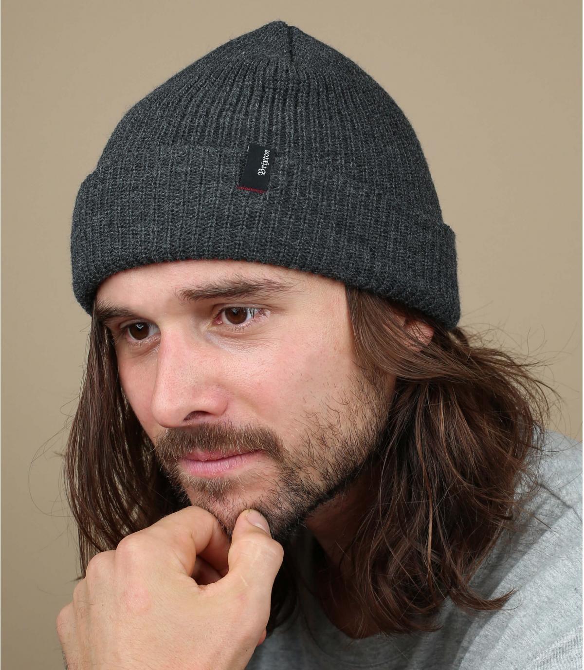 cappello bavero grigio screziato Brixton
