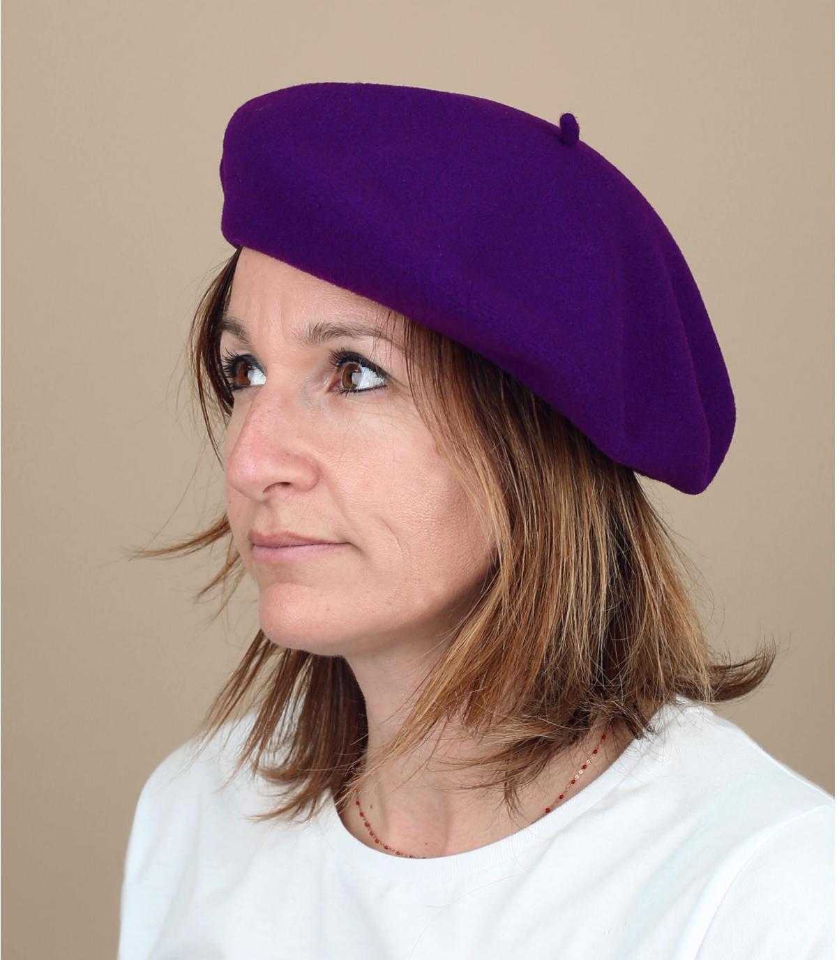 berretto viola raddoppiato