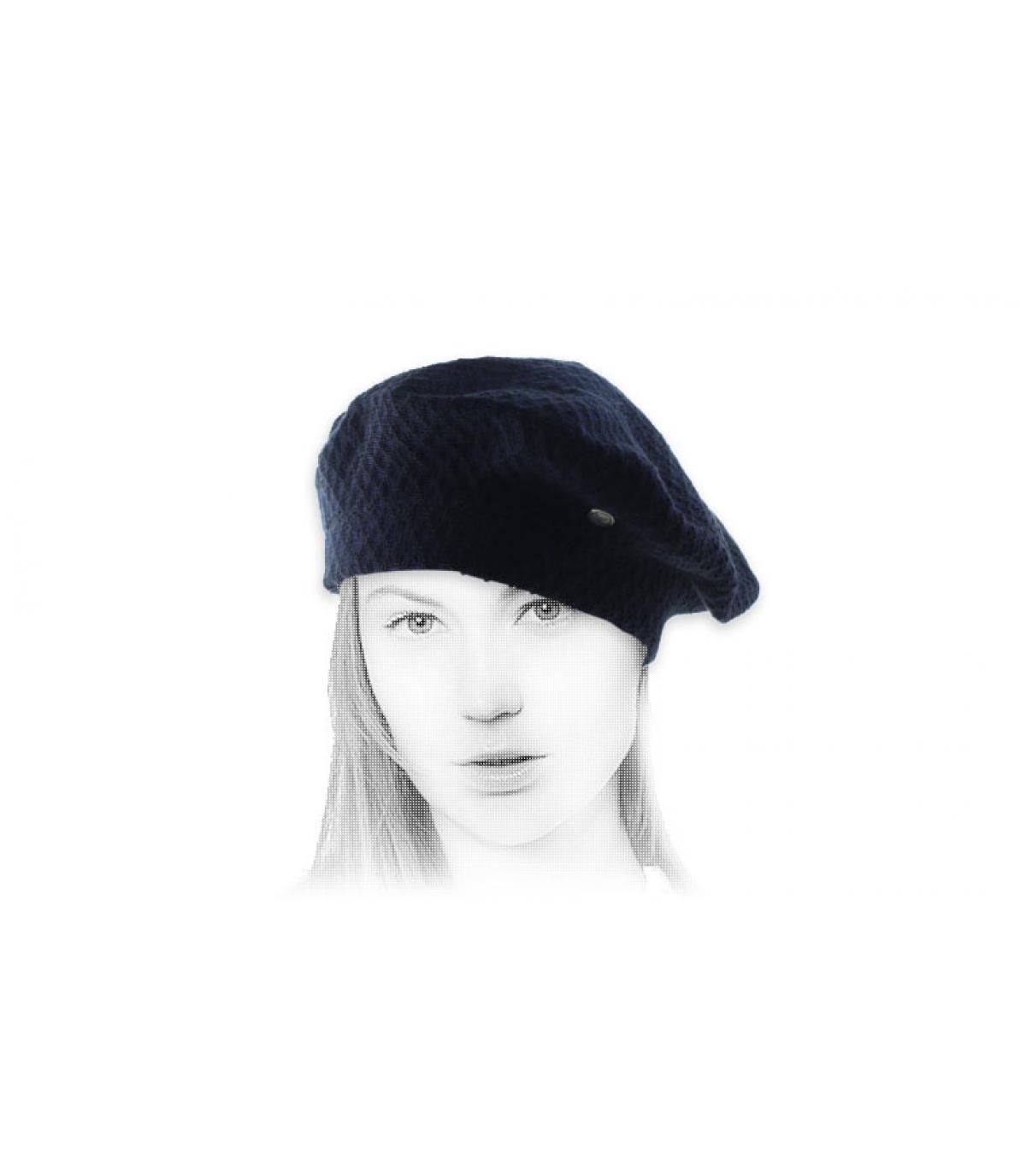 berretto Laulhère cotone blu