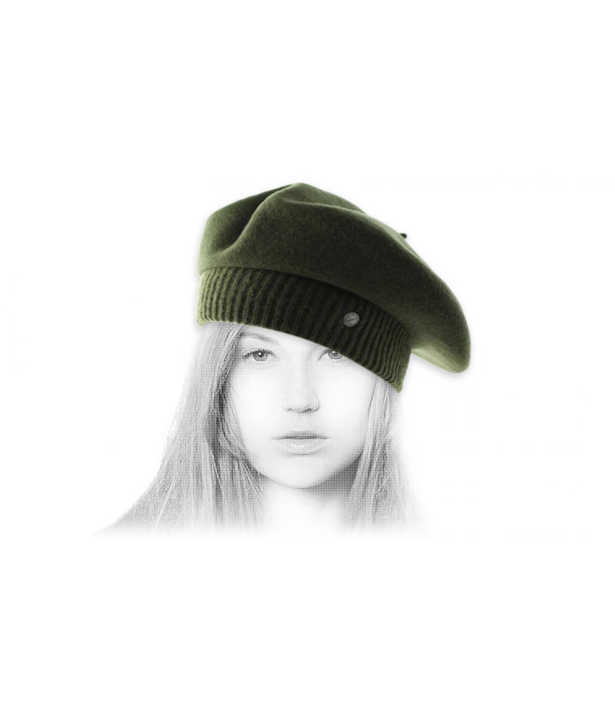 Rib berretto verde