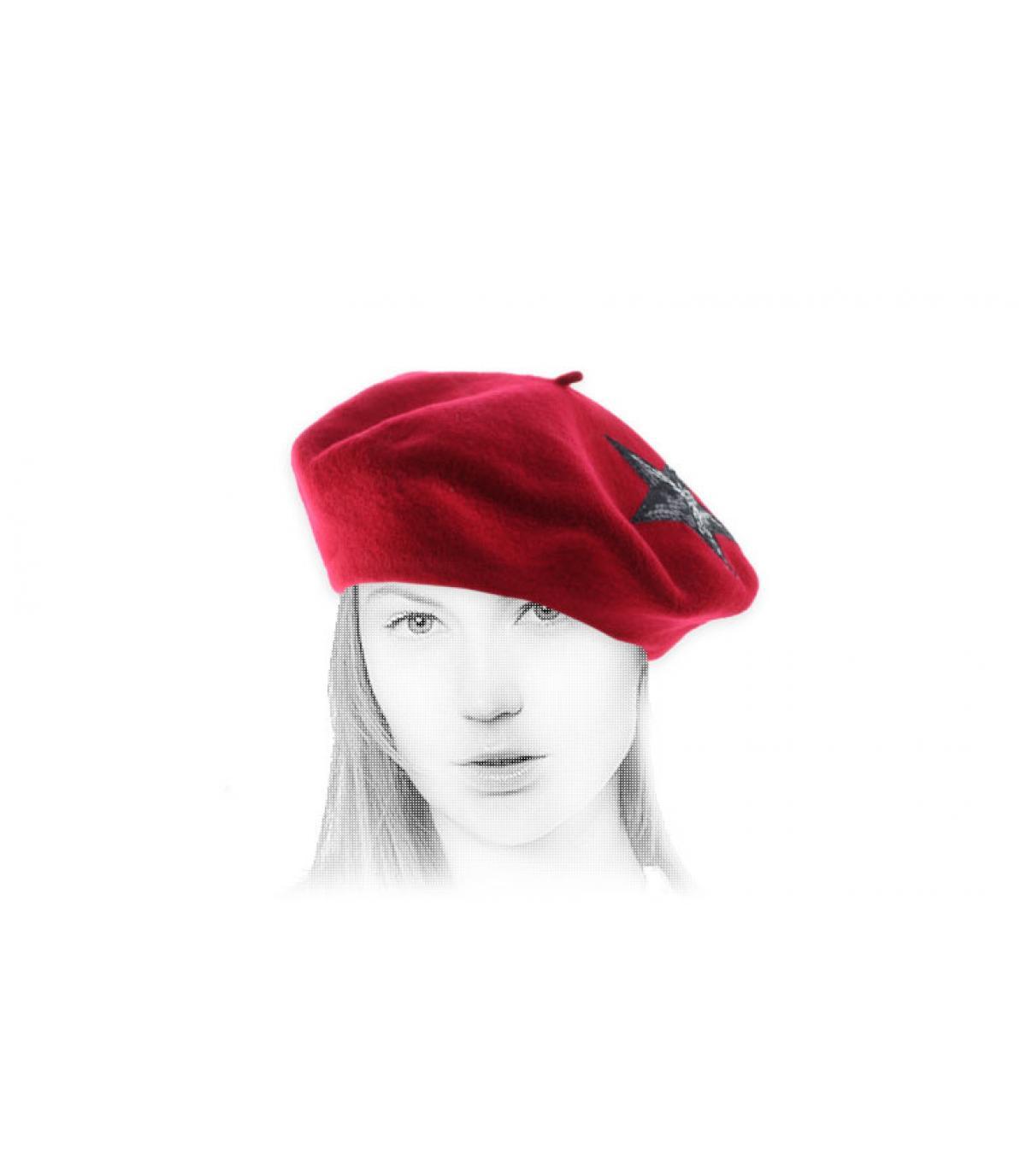 paillettes rosso berretto stelle