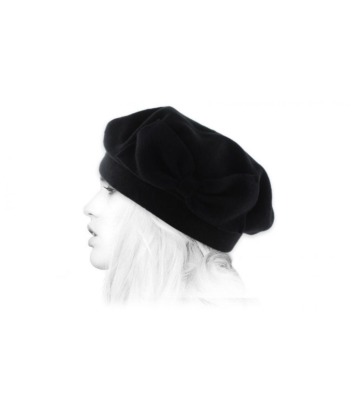 berretto nero nodo Laulhère