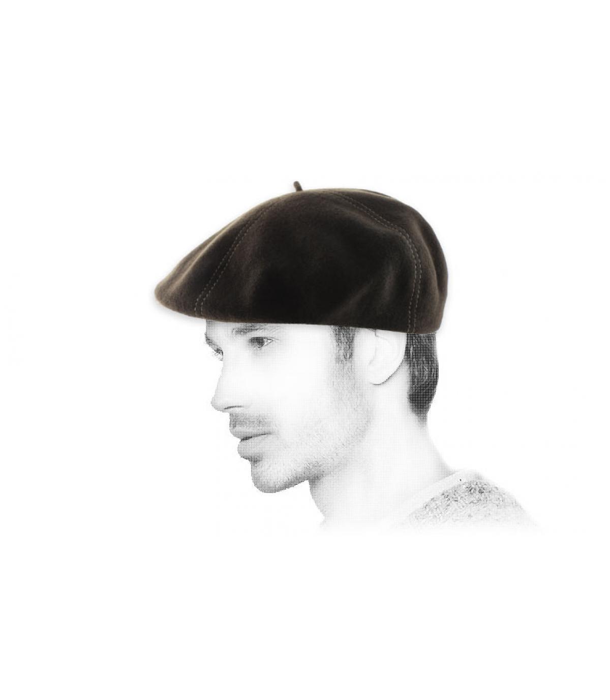 berretto di lana marrone berretto