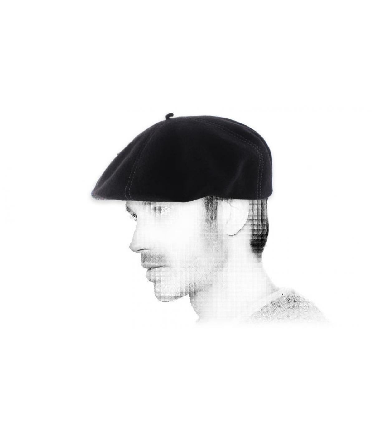 berretto berretto di lana nero