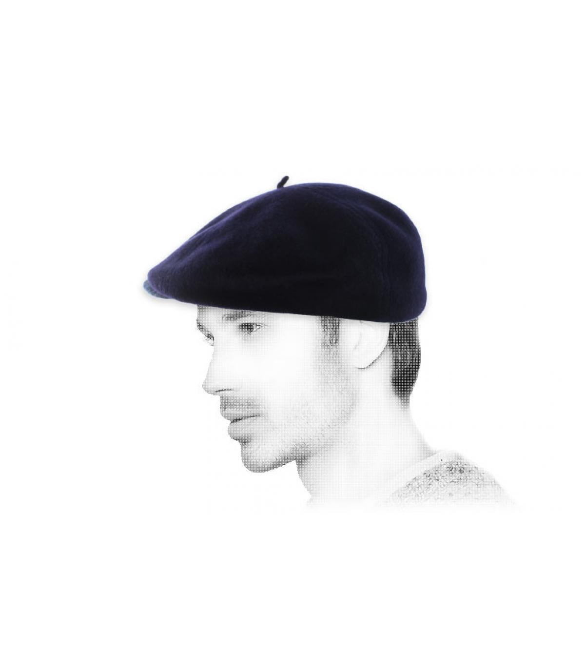 Navy berretto berretto di lana
