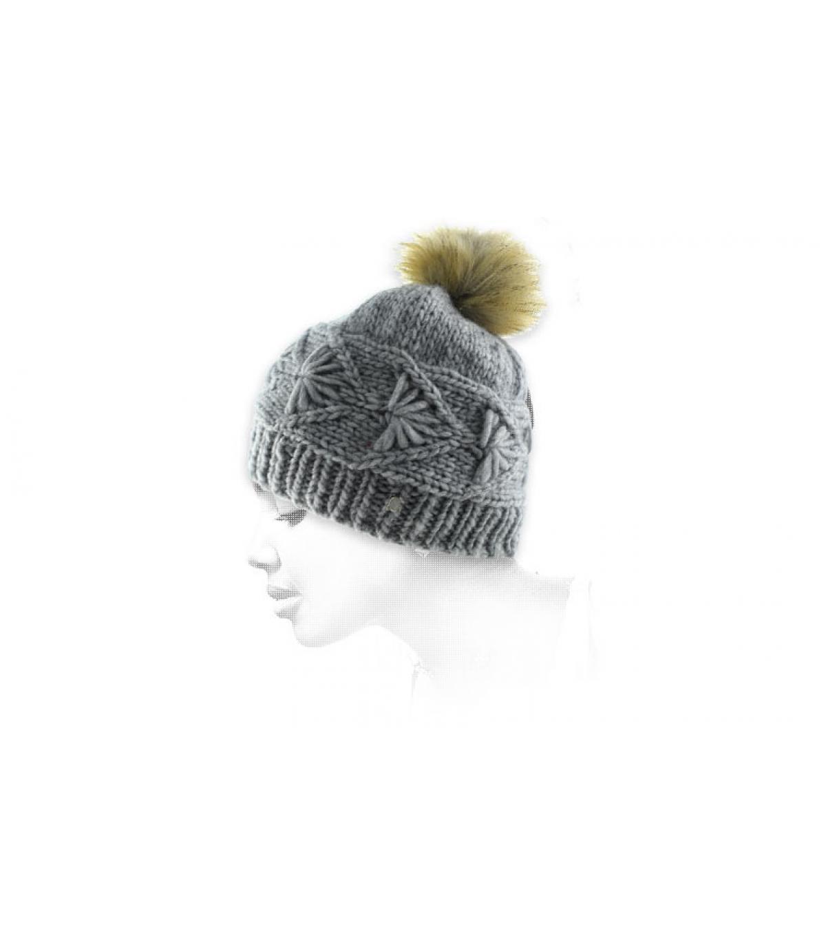 cappello grigio nappa torsione