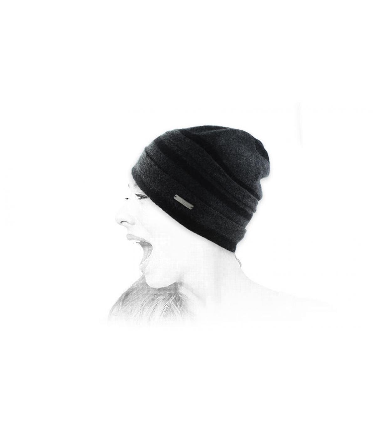 berretto lungo lurex nero