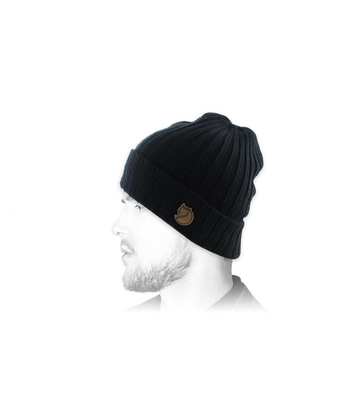 cappello nero bavero Fjällräven