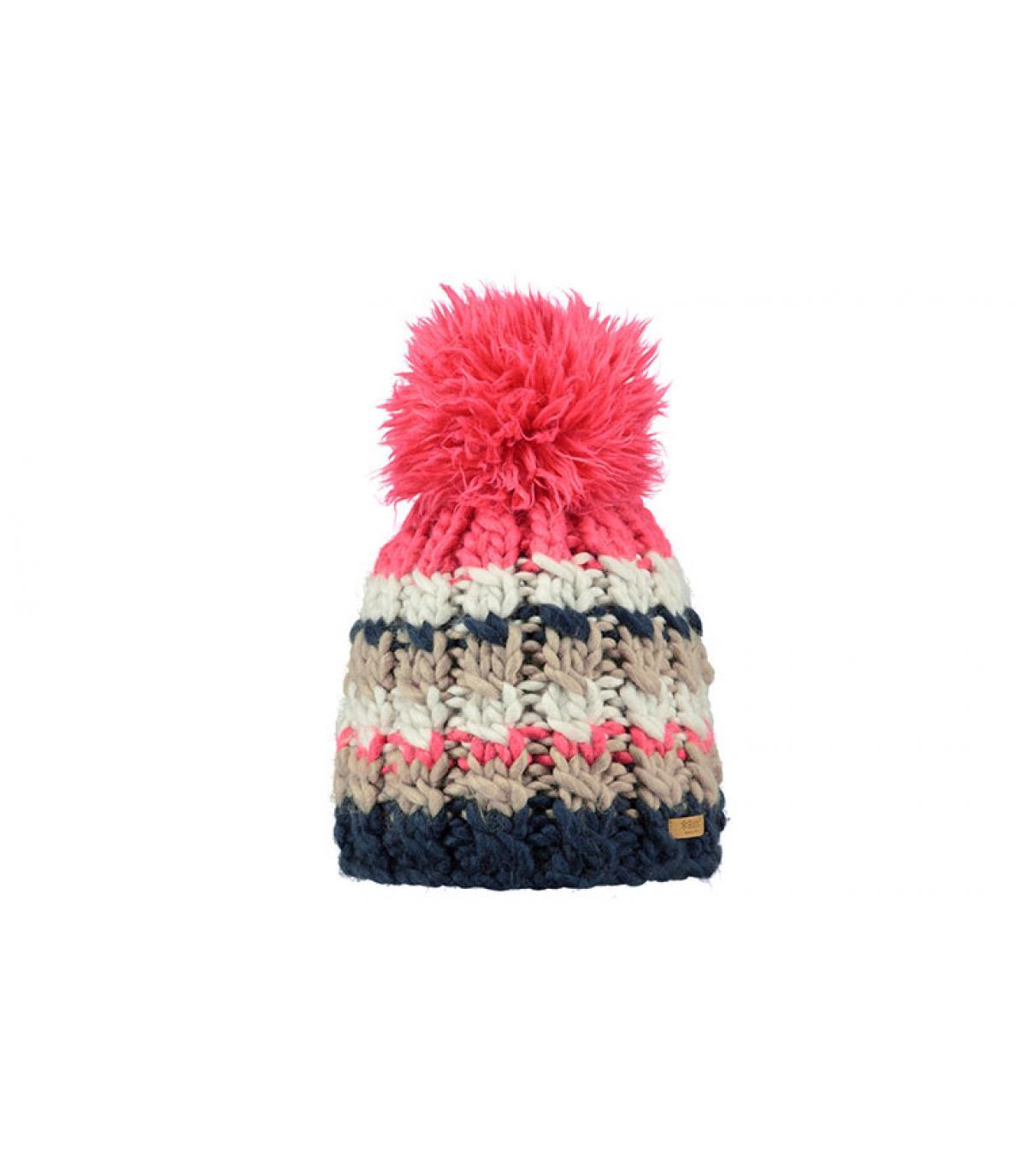 cappello rosa pompon Barts