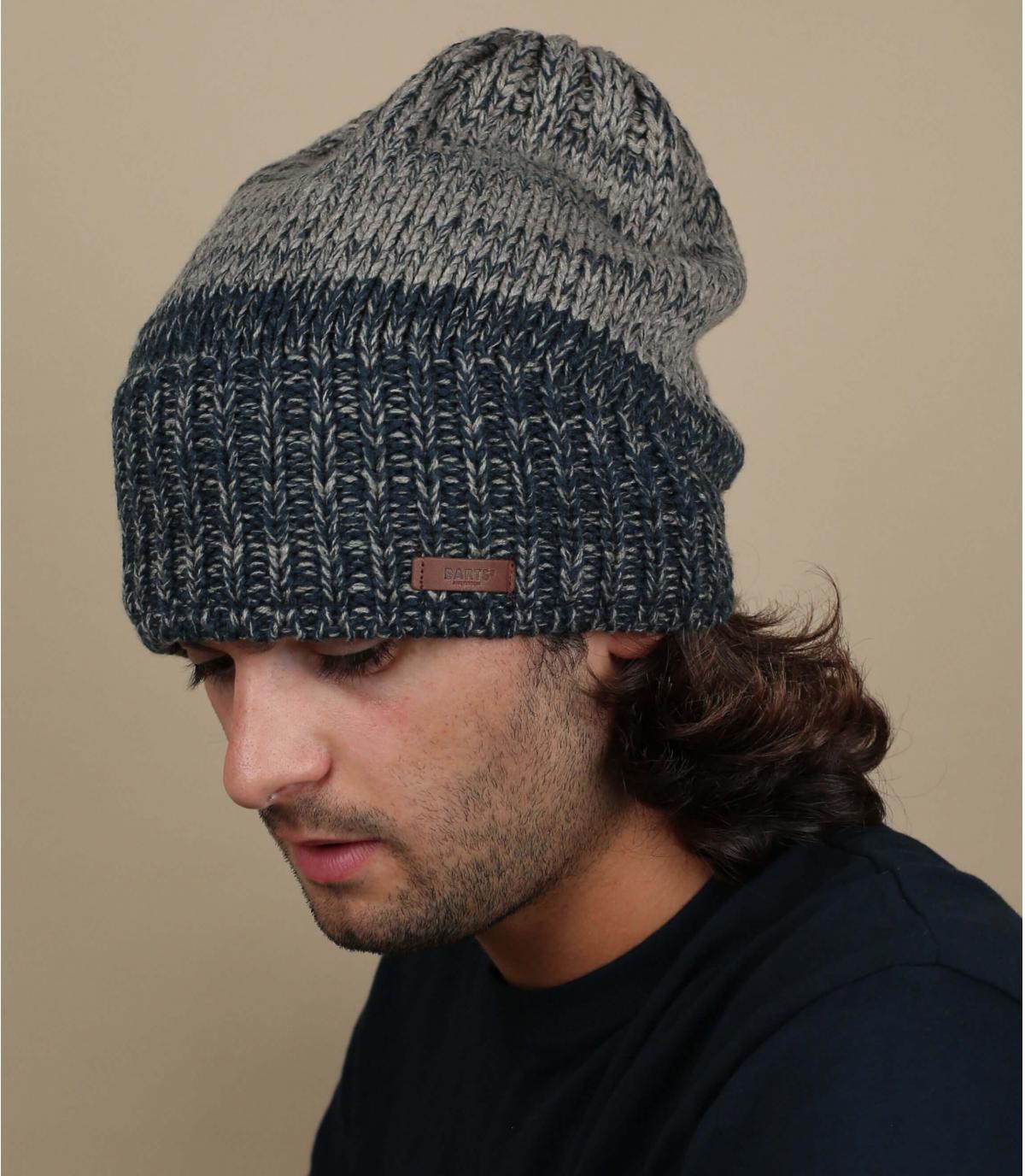 A lungo cappello grigio blu Barts