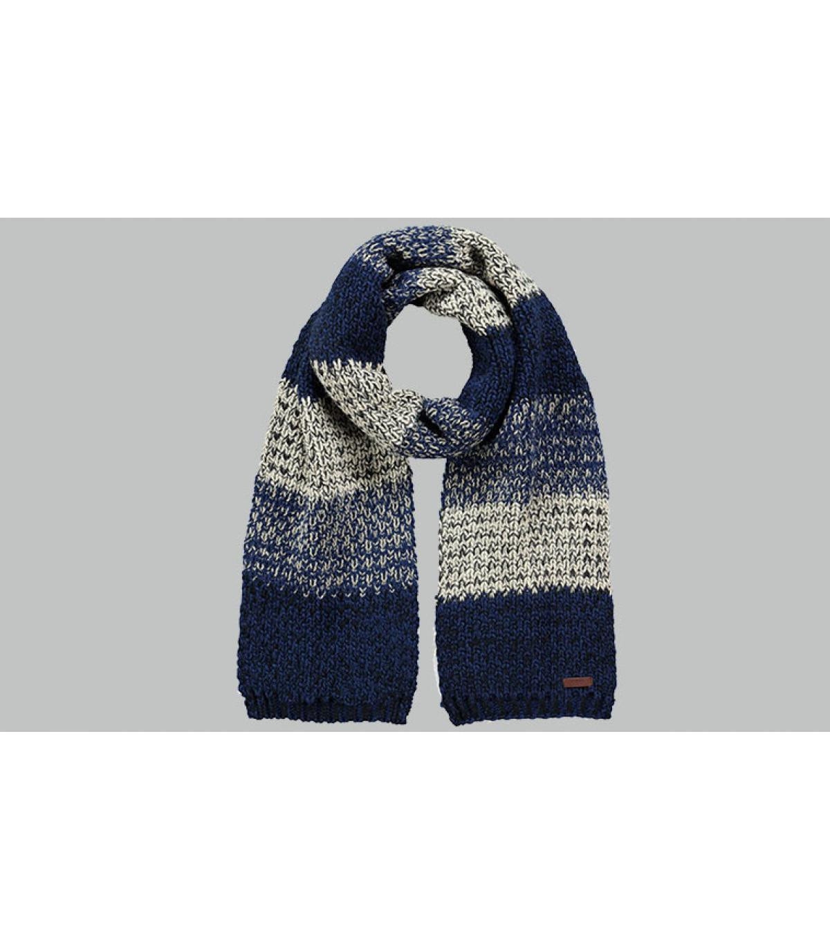 sciarpa strisce blu grigio