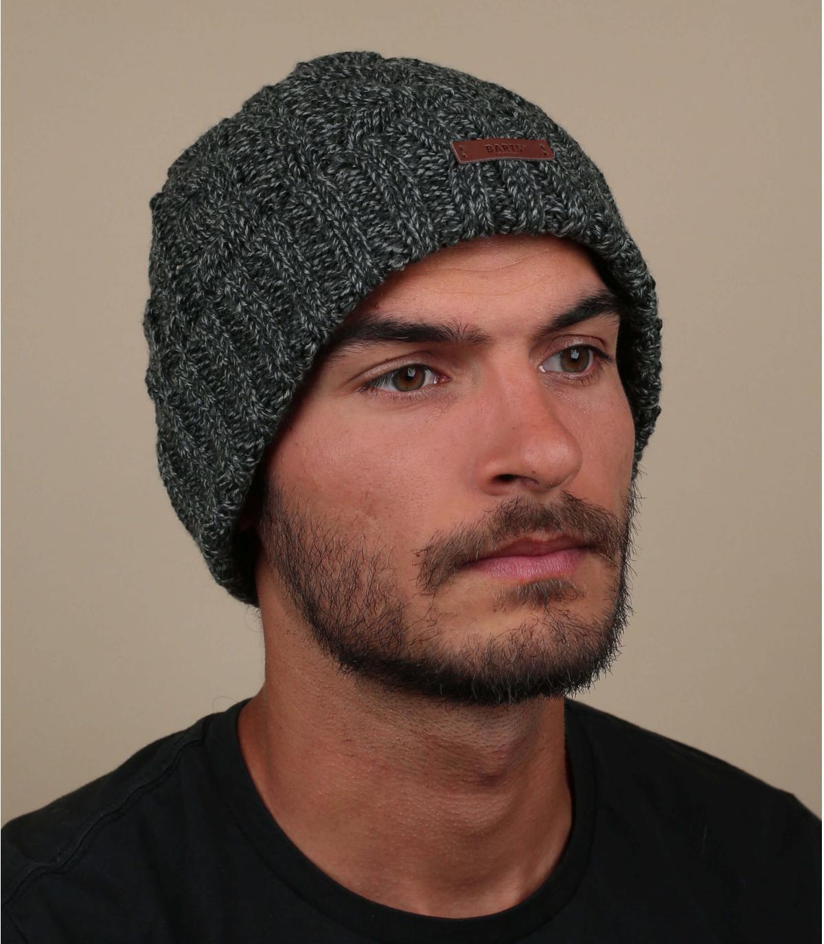 cappello bavero torsione nero