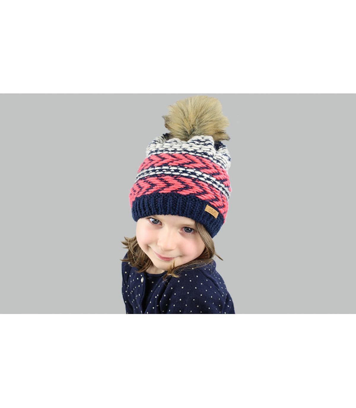 cappello di pelliccia pompon ragazza