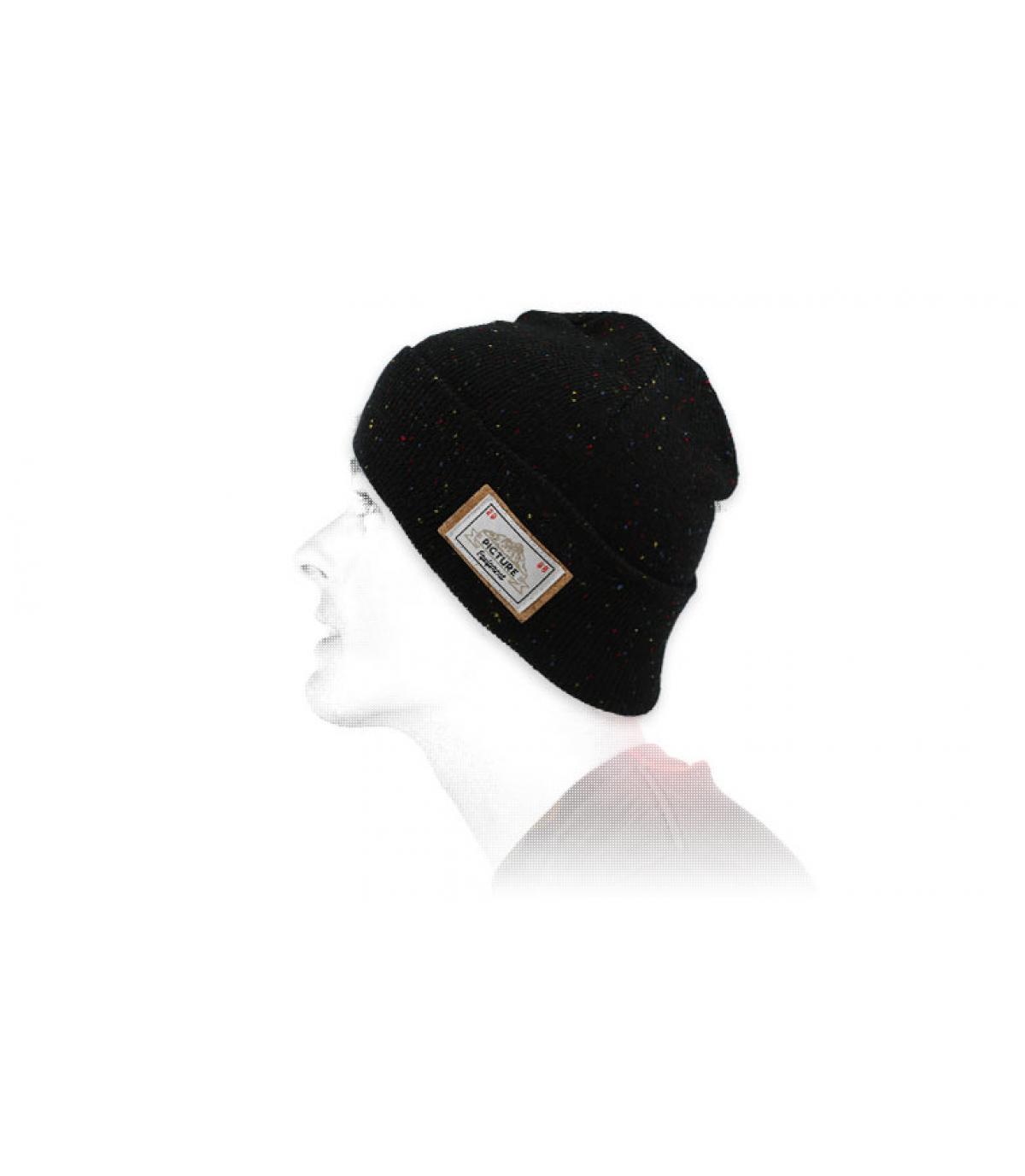 Foto berretto bavero nero