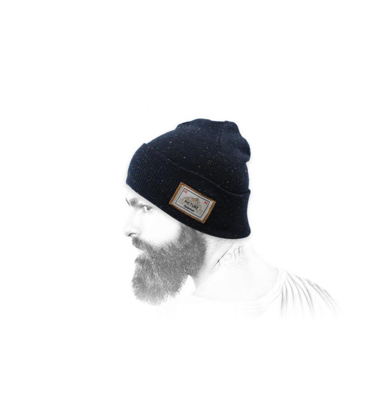 Foto berretto blu bavero