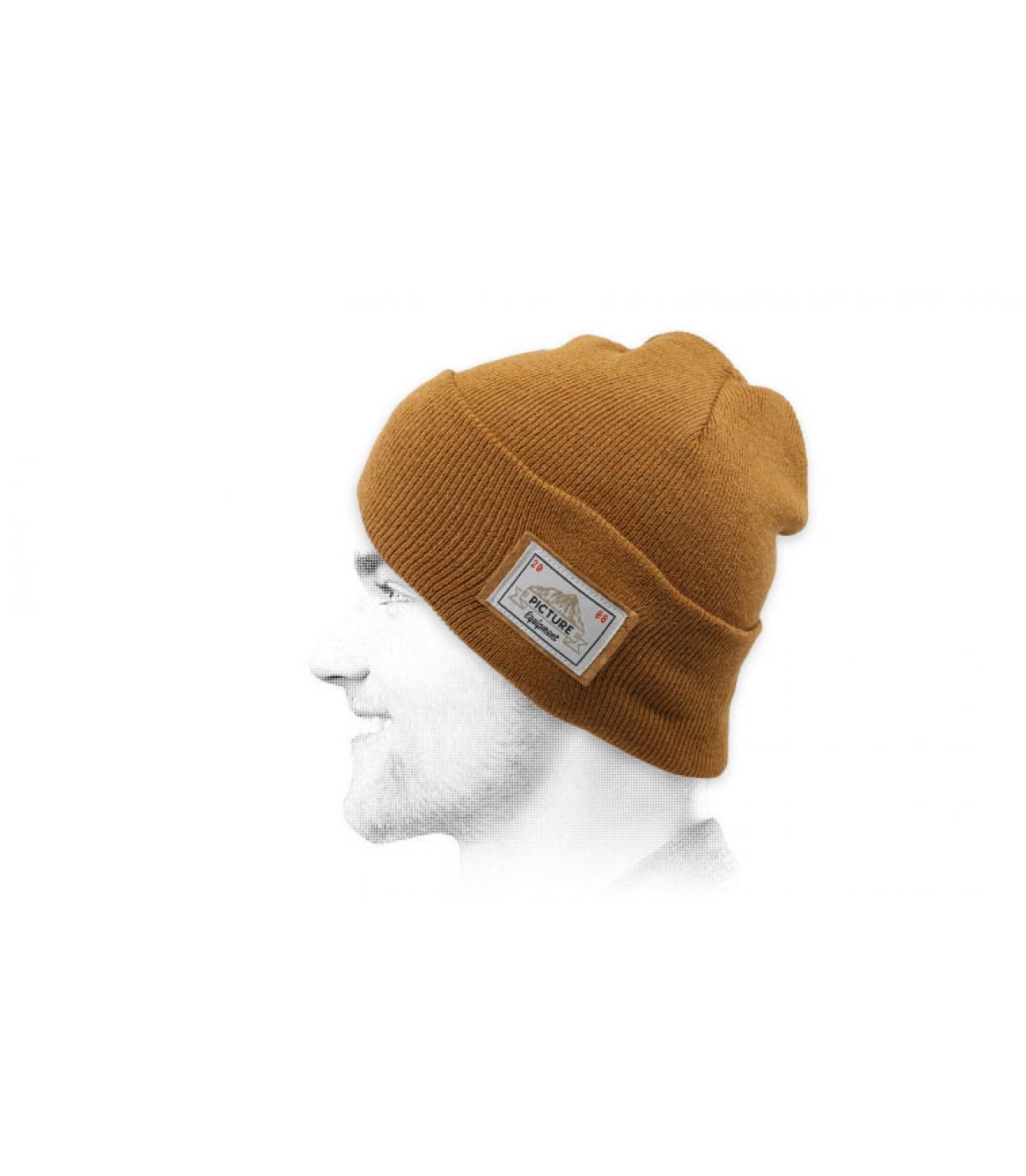 cappello bavero beige Immagine