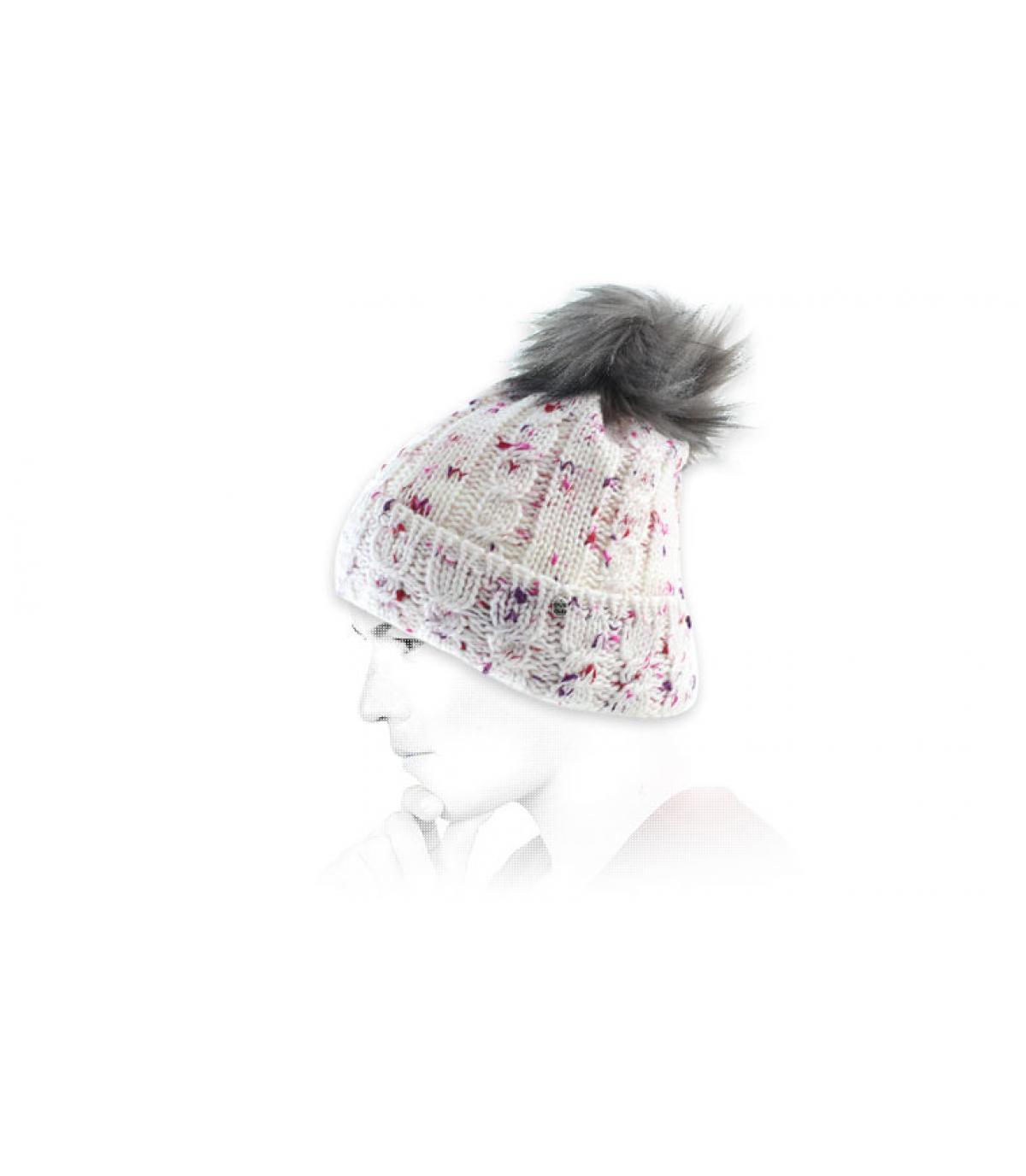 cap nappa rosa bianca