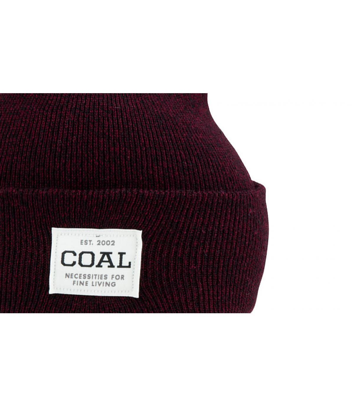 cappello bordeaux bavero del carbone