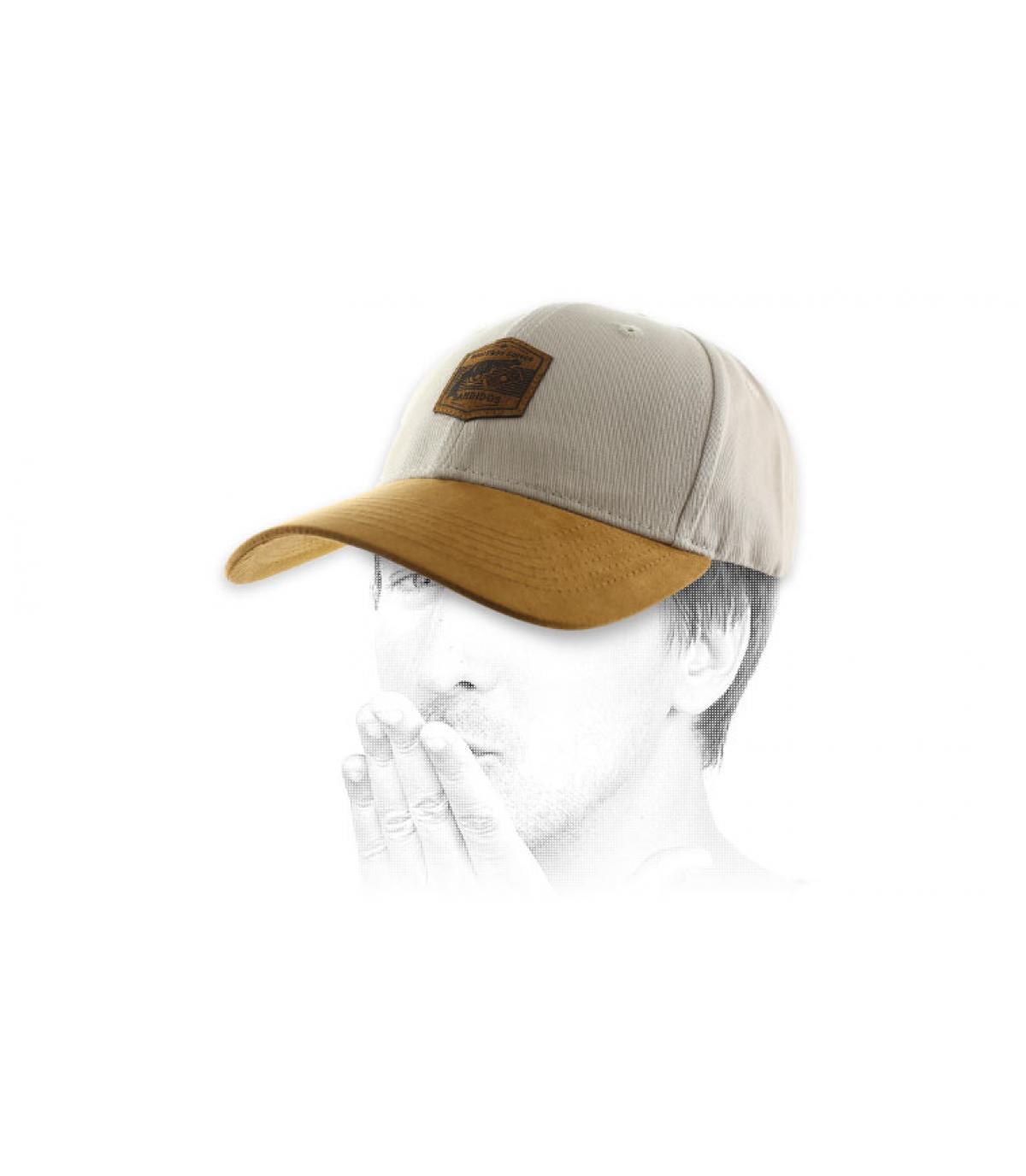 Bandidos beige suede cap