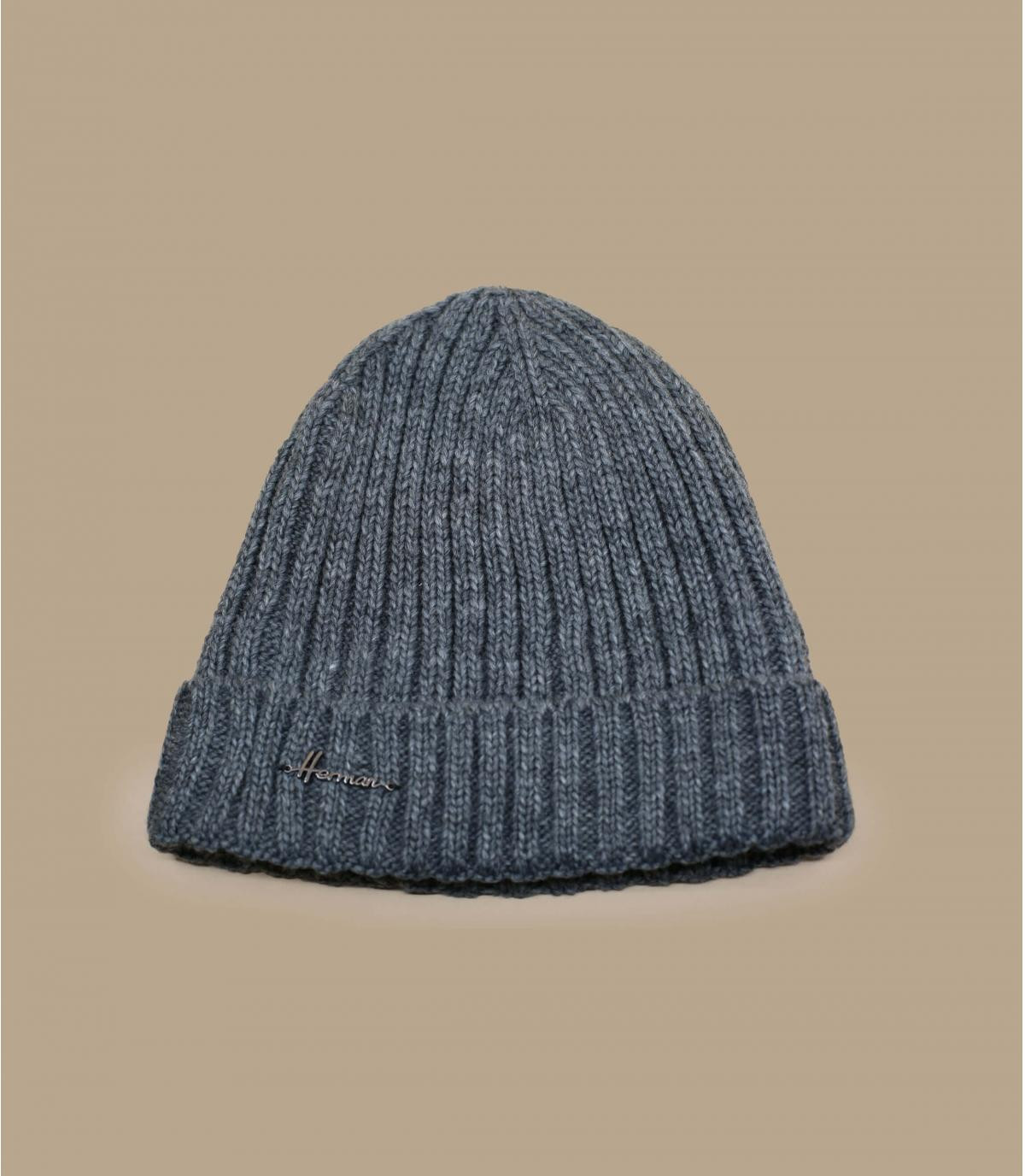 Cappello di lana bavero grigio