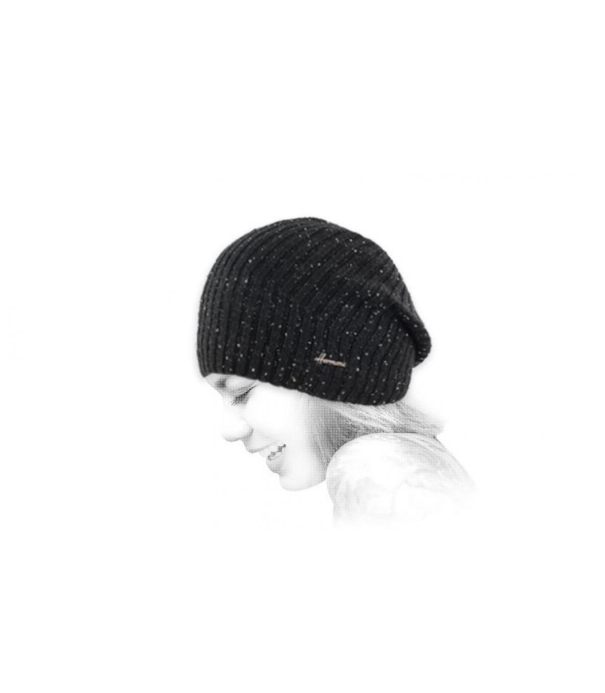 lungo cappuccio nero lucido