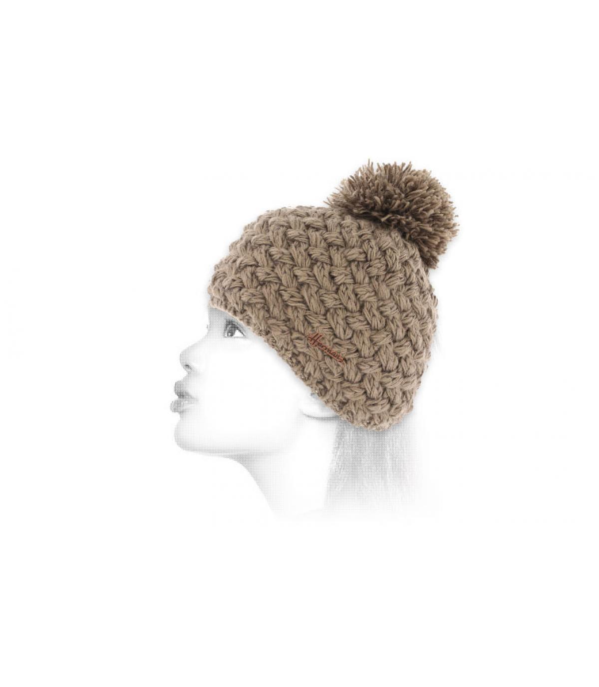 beige bobble il cappello di lana